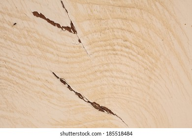 Old wooden wall paint peeling.