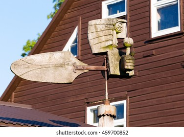 Old wooden wind vane. Lithuania.