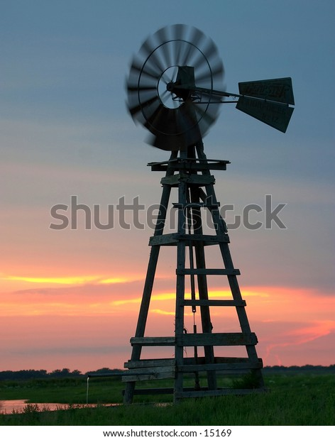 An old wooden windmill