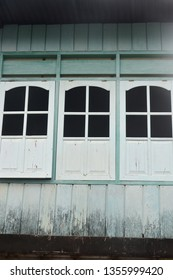 the old wooden windows background
