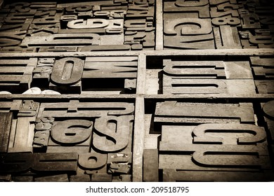 old woodtypes, monochromatic photo with black vignette borders
