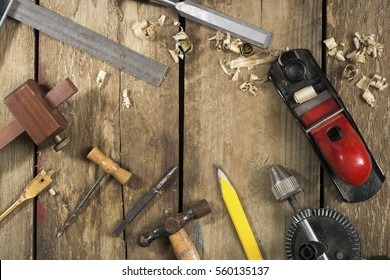 Old Woodworking Tools Tools Include Bradle Stock Photo Edit Now