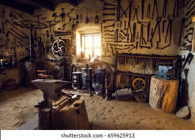 Old workshop interior