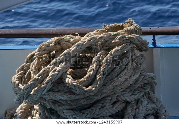 Old Worn Ship Mooring Rope Rolled Stock Photo (Edit Now