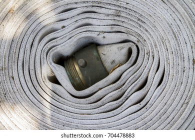 Old wrapped up fire hose