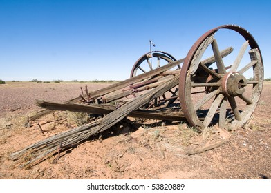 Old wrecked cart in Outback Australia