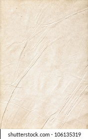 Old wrinkled paper, a clean sheet