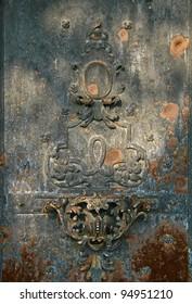 The old wrought door detail.