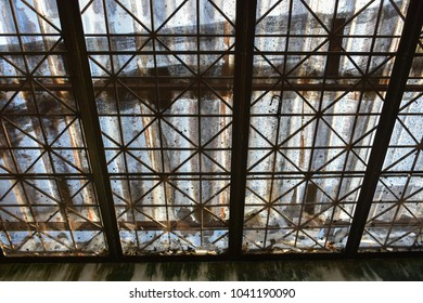 The old wrought iron roof