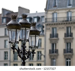 Old wrought iron street lights in Paris