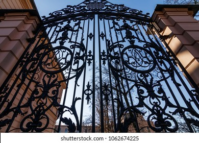 old wrought-iron gates