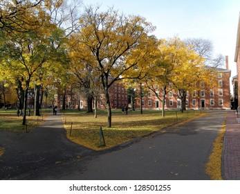 The Old Yard at Harvard University in Autumn