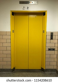 Old yellow elevator