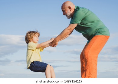 Old and young - aged concept The unruly child refused to obey his parents. Many creative people were unruly as children