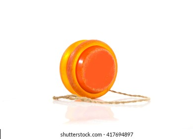 old yoyo orange isolated on white background