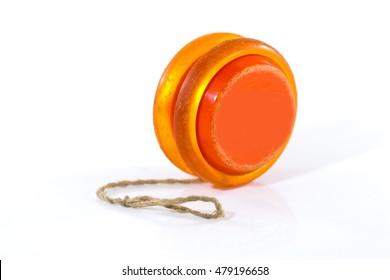 old yoyo orange isolated on white background