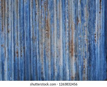 Old zinc roof,rusty metal wall background,abstract steel floor,vintage zinc wall