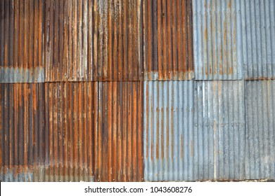 old zinc wall background