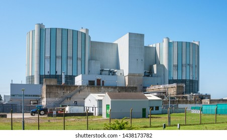 Oldbury, United Kingdom - June 2019: Oldbury Magnox Nuclear Power Station. Now decommissioned one of the oldest nuclear reactors in the world. Oldbury on Severn, South Gloucestershire, United Kingdom