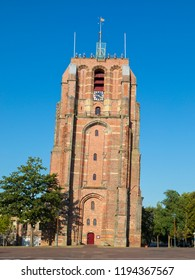 Oldehove, the leaning bell tower, most prominent landmark of Leeuwarden