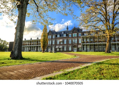 Oldenzaal, The Netherlands - 2017: Sunny day at the famous Hospital building.
