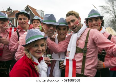 OLDENZAAL, NETHERLANDS - FEBRUARY 26, 2017. The Royal household of Prince Carnival.