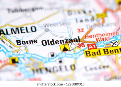 Oldenzaal. Netherlands on a map