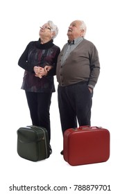 an older couple going on vacation