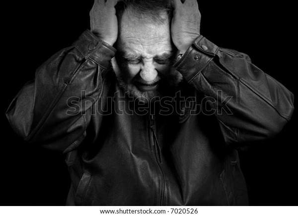 Older Male Veteran In Anguish or Pain