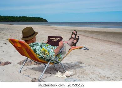 Older man thinking of retirement