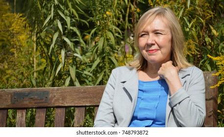 Older woman in park