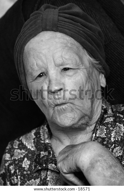 older women making funny face