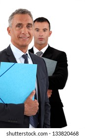 Older and younger businessmen