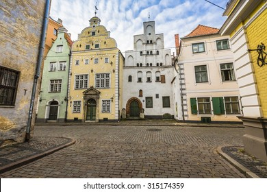 Oldest buildings in Riga Latvia - the Three Brothers
