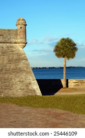 oldest fort in Florida next to bay