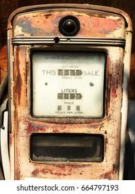 Oldest gas dispenser machine.