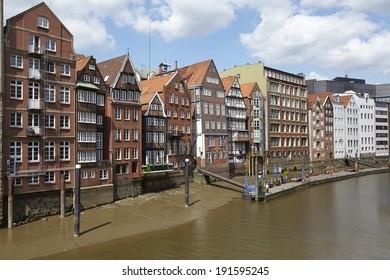 Hamburg´s oldest houses at the Nikolaifleet (Deich Street).