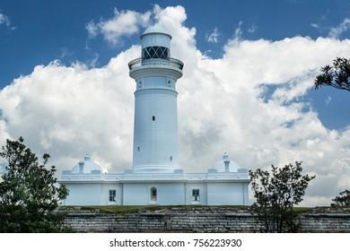 Oldest Macquarie lighthouse in Sydney suburb of Vaucluse, Australia.