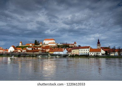 The oldest Slovenian town  Ptuj along the river Drava