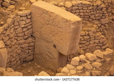 Göbeklitepe The Oldest Temple of the World. it was built about twelve thousand years ago. GOBEKLITEPE, SANLIURFA - TURKEY-MAY,2019
