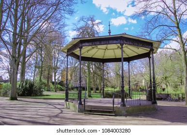 Old-fashioned bandstand in park. Gouda, the Netherlands.