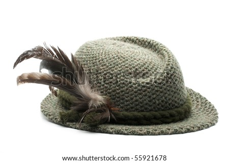 33dcd210cfd Oldfashioned Bavarian Mans Hat Stock Photo (Edit Now) 55921678 ...