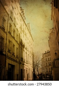 old-fashioned building in paris