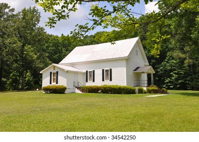 An old-fashioned country church