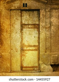 old-fashioned door