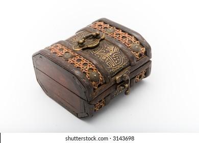 old-fashioned wood box