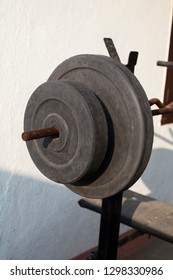 An old-school weight for weightlifting