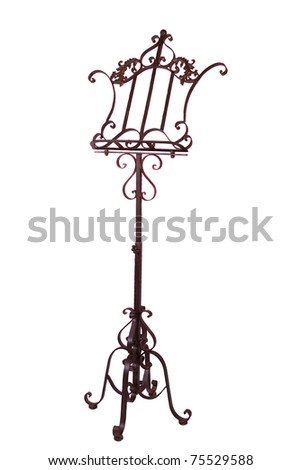 Oldstyle Antique Metal Music Stand Isolated Stock Photo Edit Now