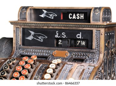 Old-style cash register.