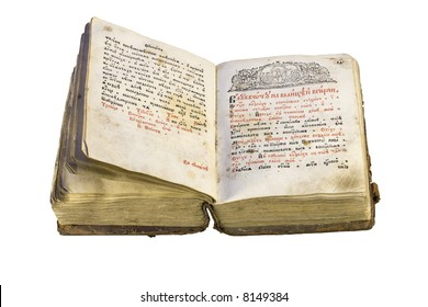 Old-time books (With Clipping Path)
